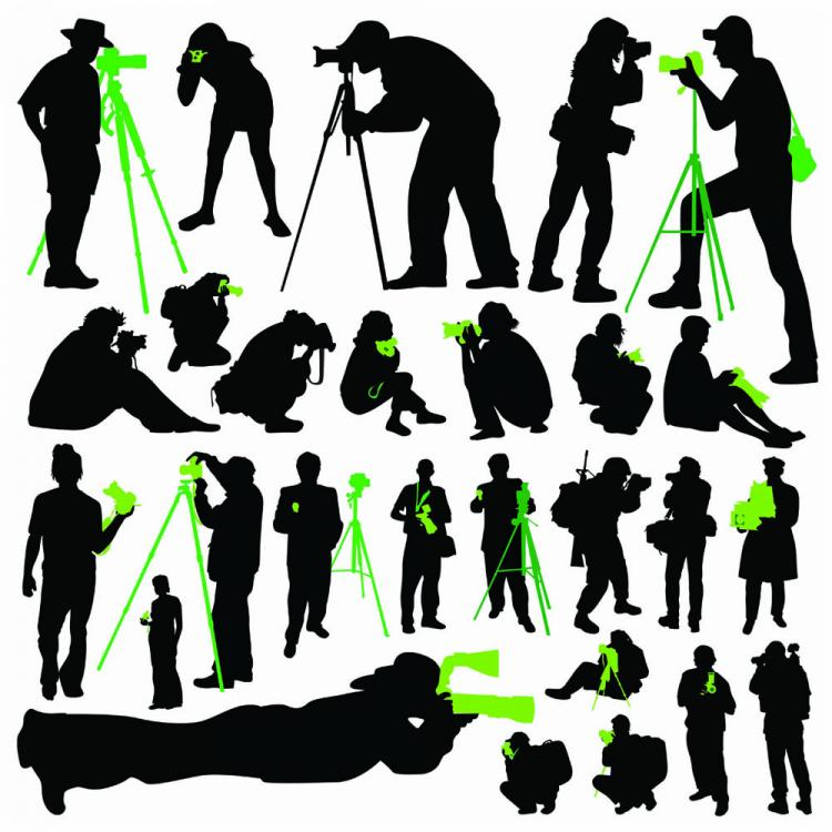 free vector Photographer silhouette 01 vector