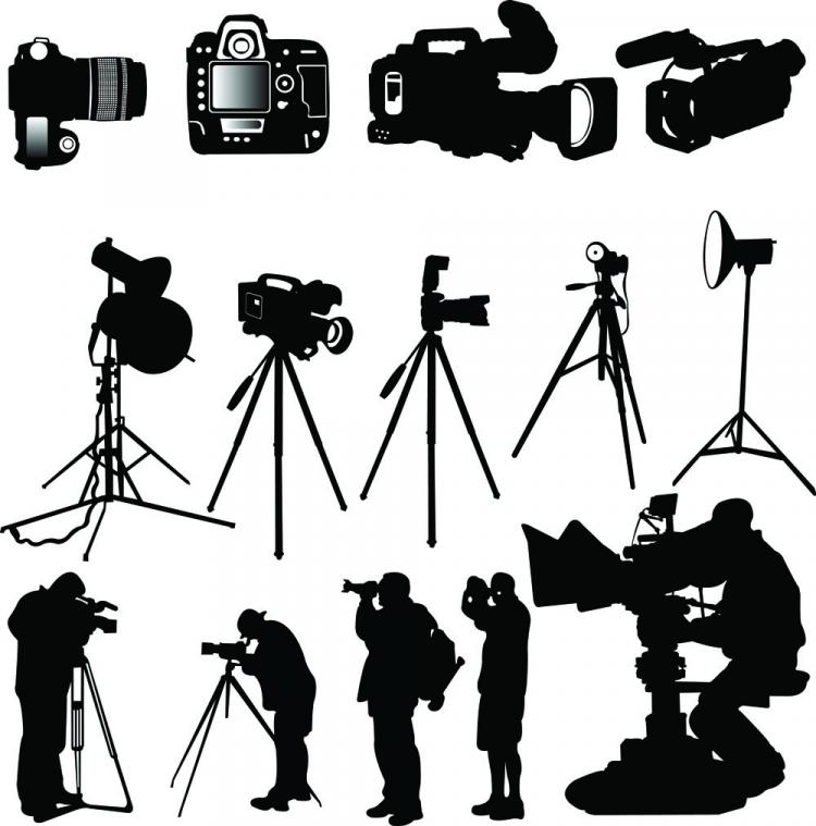 free vector Photographer silhouette 03 vector