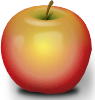 free vector Photorealistic Red Apple clip art