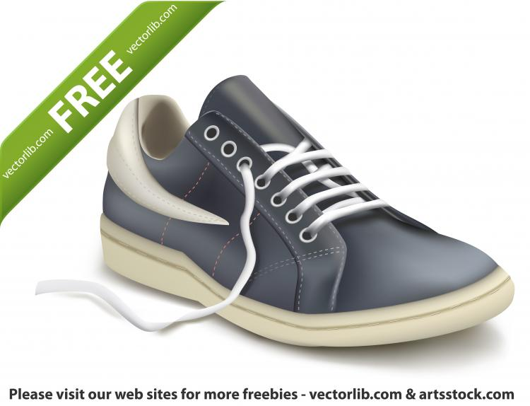 free vector Photorealistic vector illustration of sports shoe. Sneaker