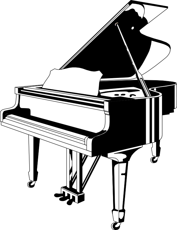 Free Vector Piano Black White