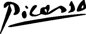 free vector Picasso Signature clip art