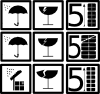 free vector Pictograms Rain Water Broken Glass clip art