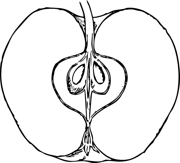 free vector Piece Of Apple clip art