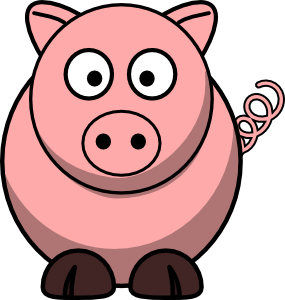 pig clip art free vector 4vector rh 4vector com clipart of a picture in a frame clipart of a piggy bank