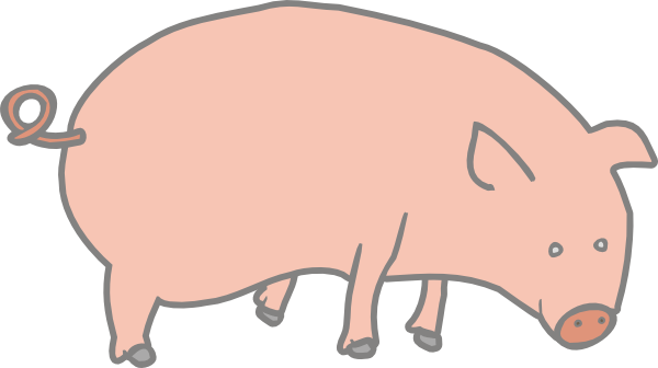 Pig clip art Free Vector / 4Vector