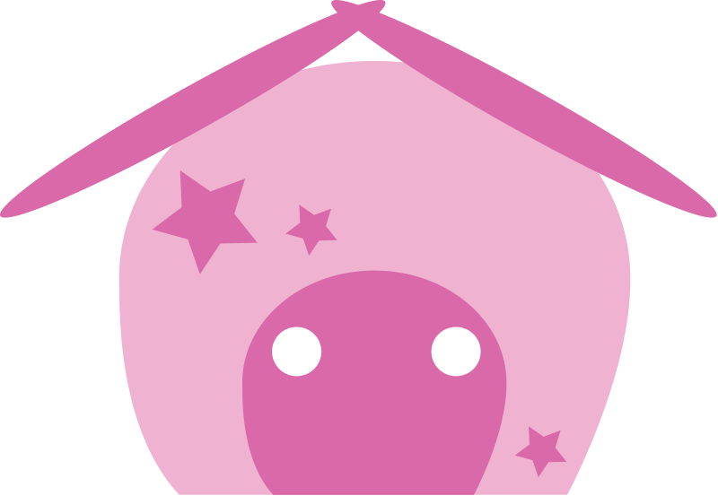 free vector Pig house