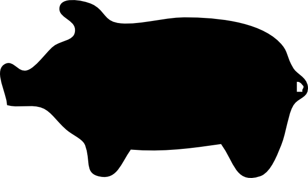 free vector Piggie Silhouette clip art