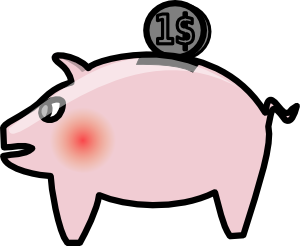 free vector Piggybank clip art