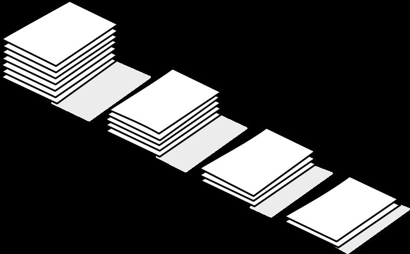 free vector Piles of paper / piles de papier