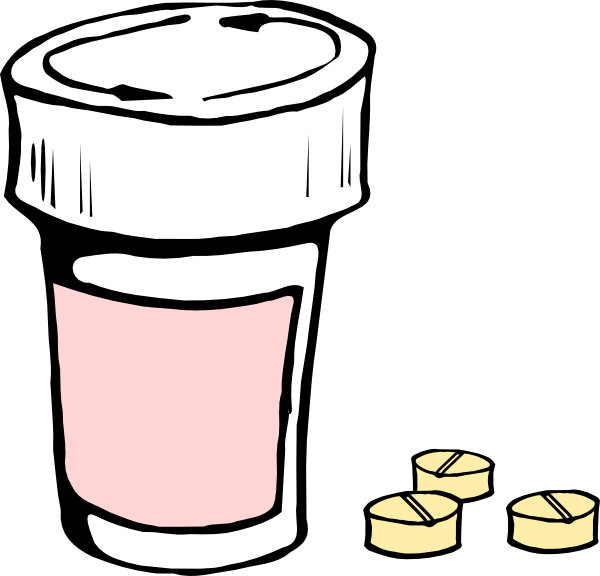 free vector Pills And Bottle clip art