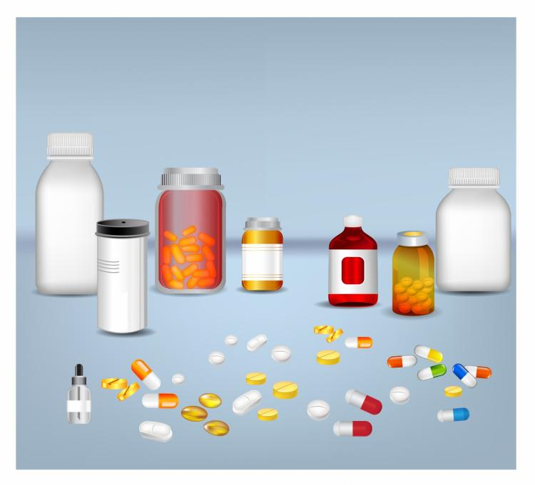 free vector Pills tablets and medicines in plastic bottle