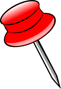 free vector Pin -red clip art