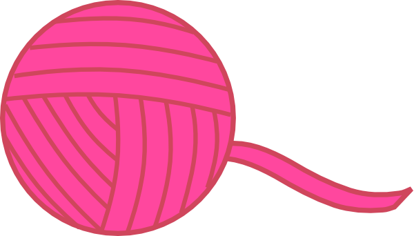 Pink Ball Of Yarn Clip Art Free Svg Download 4vector