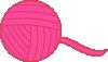 free vector Pink Ball Of Yarn clip art