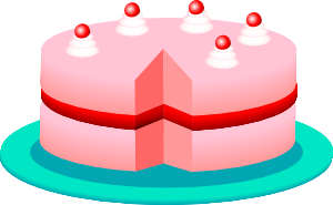 free vector Pink_cake clip art