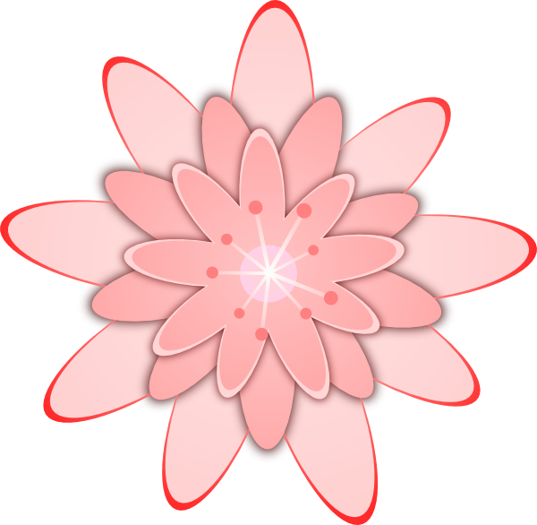 Pink flower clip art free vector 4vector free vector pink flower clip art mightylinksfo Choice Image