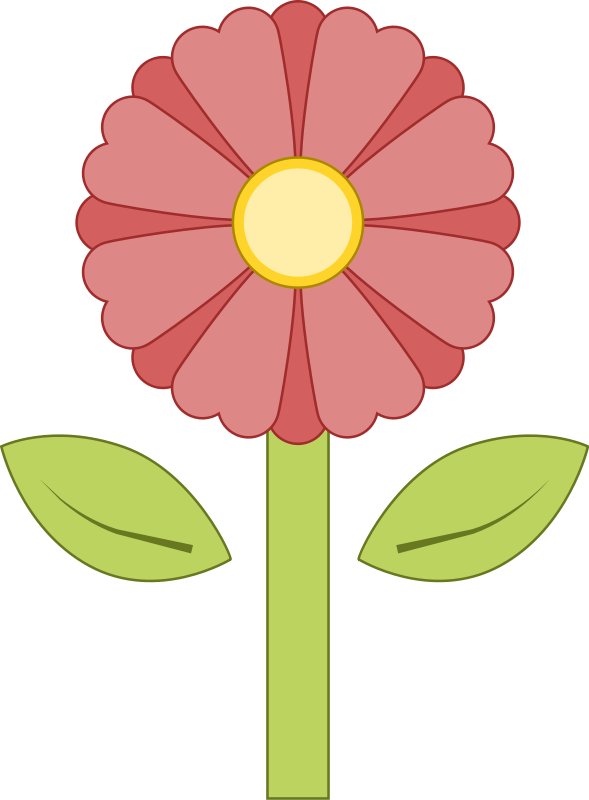free vector Pink Flower