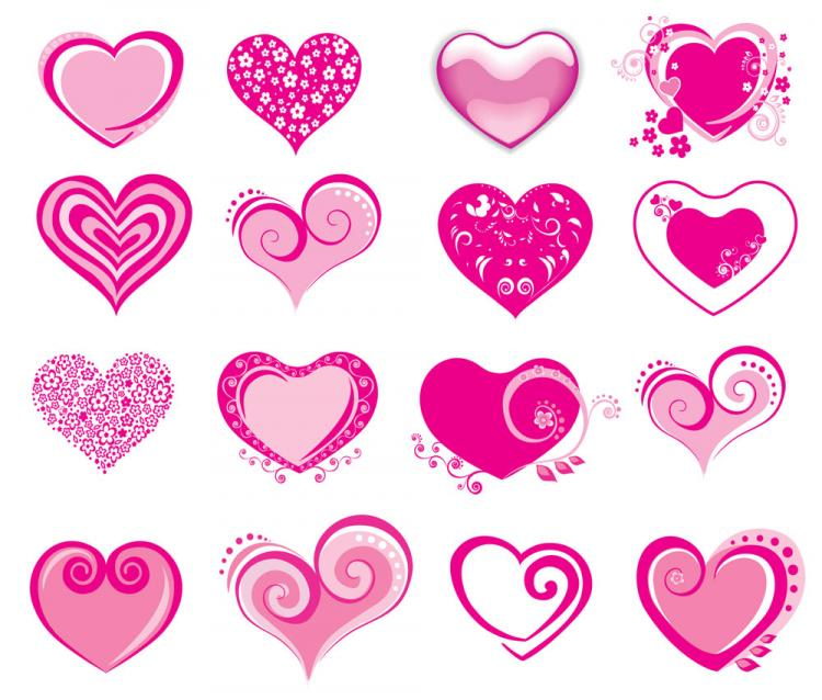 free vector Pink heartshaped icon vector