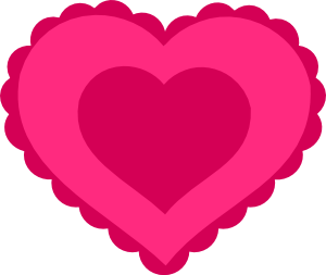 free vector Pink Lace Heart clip art