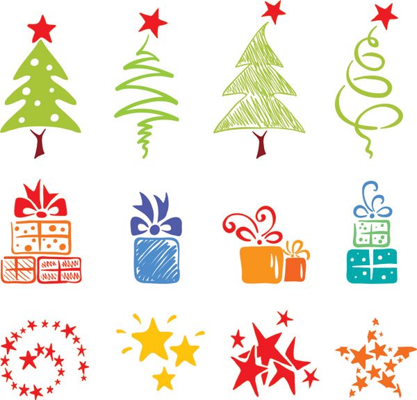 Christmas tree vector images Christmas lovely Christmas