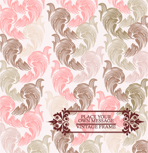 free vector Pink pattern background 03 vector