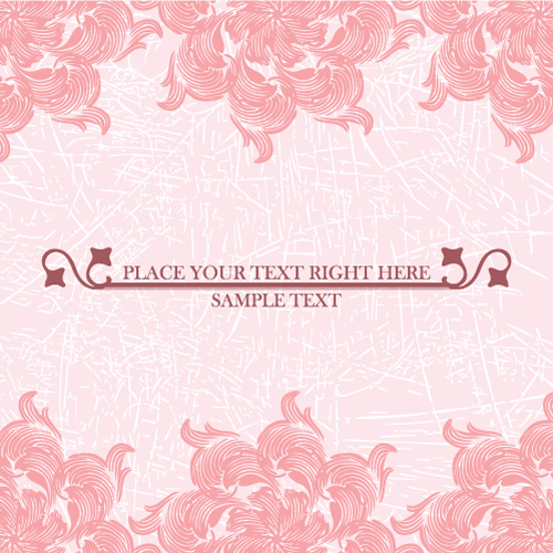 free vector Pink pattern background 04 vector