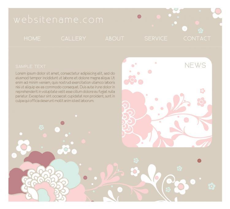 free vector Pink website design template vector