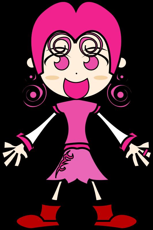 free vector Pinky girl