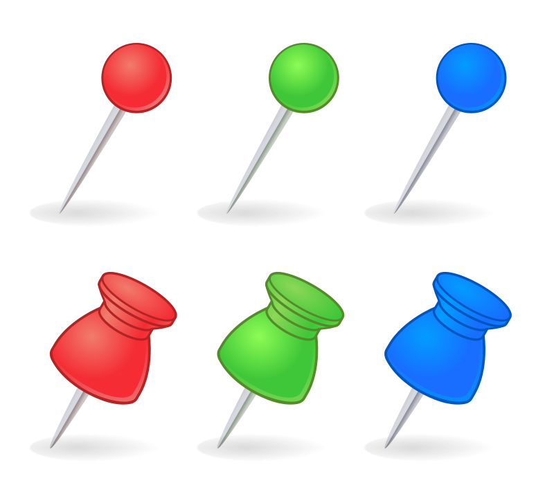 free vector Pins