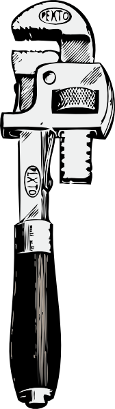 free vector Pipe Wrench clip art