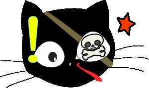 free vector Pirate Cat clip art