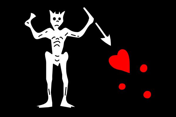 free vector Pirate Flag clip art