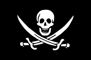 free vector Pirate Flag Jack Rackham clip art