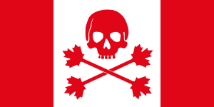 free vector Pirate Flag Of Canada clip art