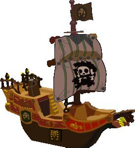 free vector Pirate Ship clip art