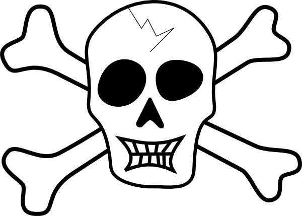 pirate skull and bones clip art free vector 4vector rh 4vector com pirate skull and crossbones clip art free pirate skull and bones clip art
