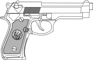 free vector Pistol Outline clip art