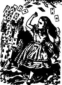 free vector Pitr Alice In Wonderland Cards Flying clip art