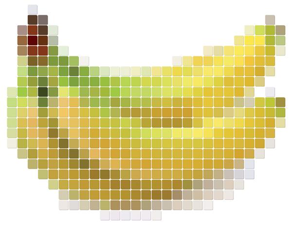 free vector Pixel vector fruits