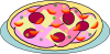 free vector Pizza On A Plate clip art
