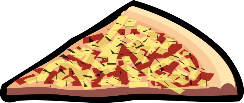 free vector Pizza slice 01