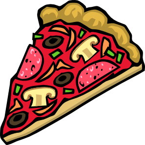 free vector Pizza Slice Mushroom Veggies Pepperoni clip art