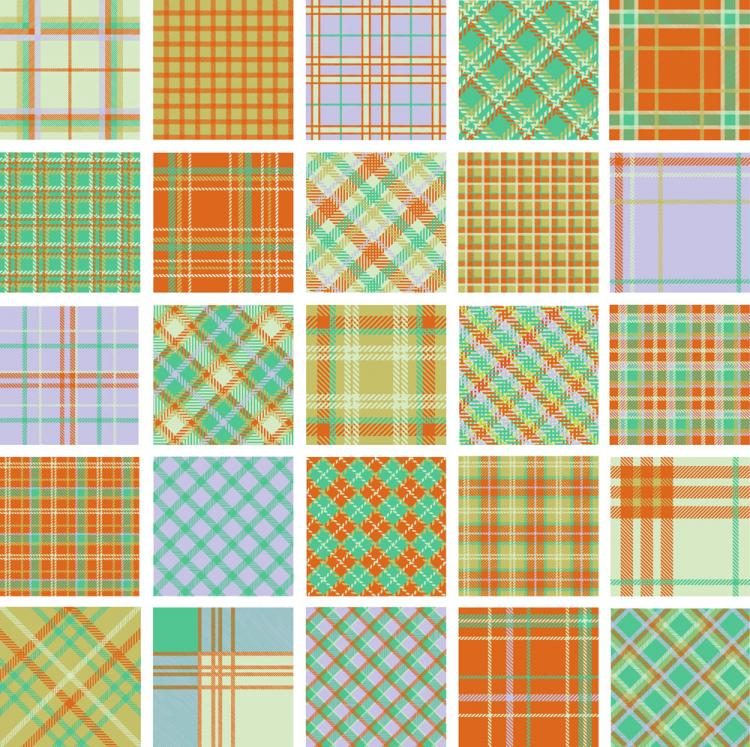 free vector Plaid patterns 01 vector