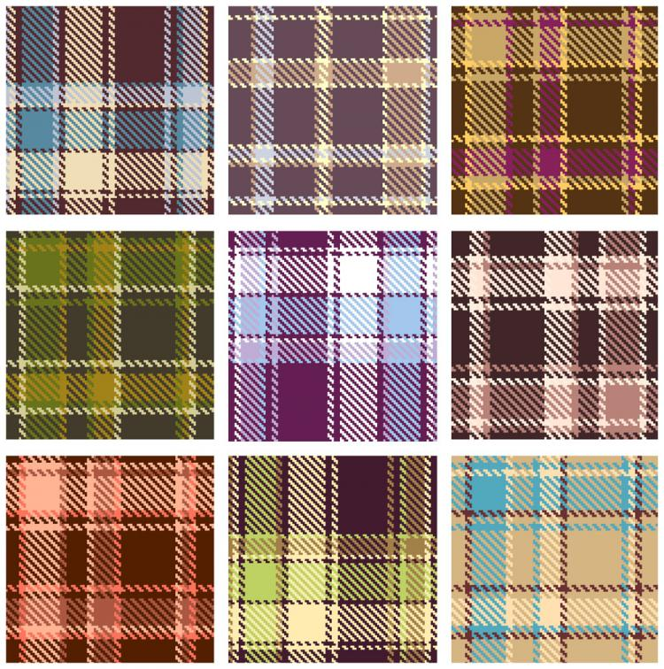 free vector Plaid patterns 02 vector