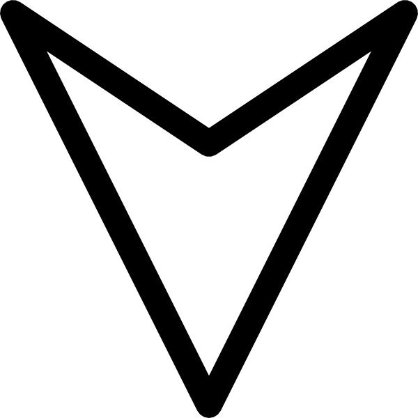 free vector Plain Outline Down Arrow clip art