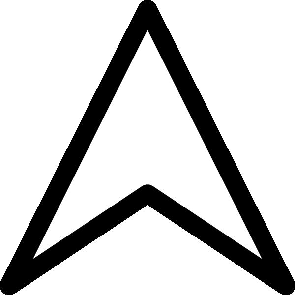 free vector Plain Up Arrow Head clip art
