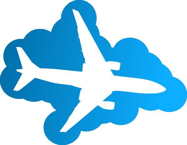 free vector Plane In The Sky clip art