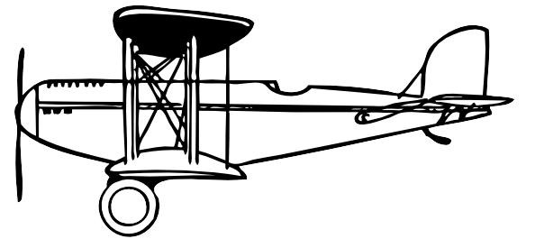 free vector Plane Outline clip art