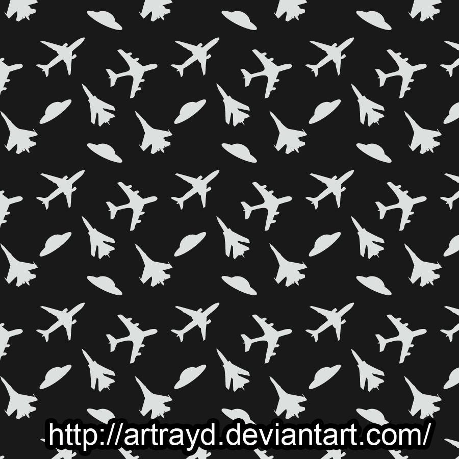 free vector Planes and UFO Pattern